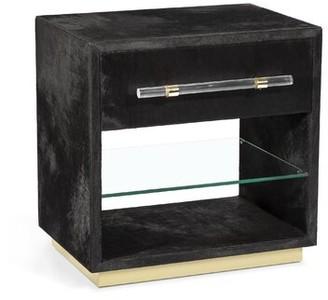 Interlude Cassian 1 Drawer Nightstand Color: Black/Brass