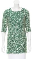 By Malene Birger Printed Three-Quarter Sleeve Tunic