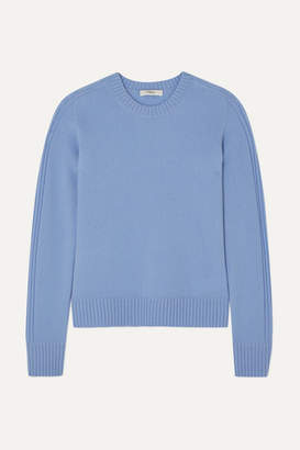 Vince Runner Rib-trimmed Cashmere Sweater - Blue