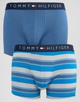 Tommy Hilfiger 2 Pack Striped Icon Trunks