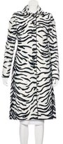 Karen Millen Faux Fur Printed Coat