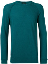 Roberto Collina ribbed trim sweatshirt - men - Cotton/Polyamide - 48