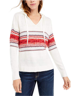 American Rag Juniors' Fair Isle Hoodie Sweater