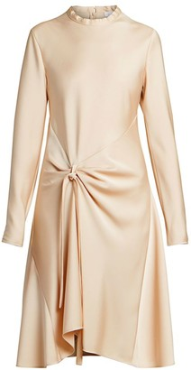 Chloé Satin Crepe Draped Dress