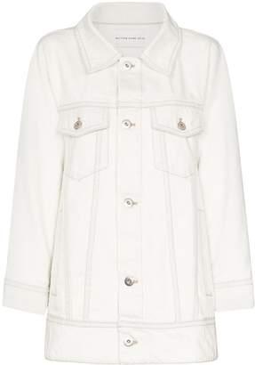 Matthew Adams Dolan swing-back long-line denim jacket