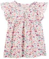 Osh Kosh Girls 4-12 Flutter-Sleeved Top