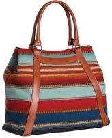 Pendleton Santa Fe Stripe Tote (Aqua Santa Fe Stripe) - Bags and Luggage