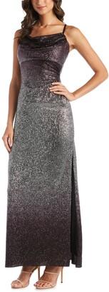 Nightway Ombre Sequined Gown