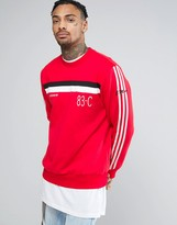 adidas 83-C Vintage Retro Sweatshirt In Red BK5317