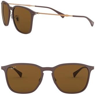 Ray-Ban 56mm Square Polarized Sunglasses