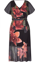 City Chic Tropical Floral Maxi Dress