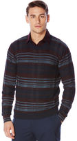 Perry Ellis Multi-Color Plaid Crew Sweater