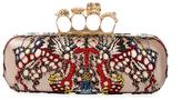 Alexander McQueen Beaded Lace Knuckle Clutch