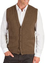 Wool Overs Men's Lambswool V Neck Button Sweater Vest Extra Large