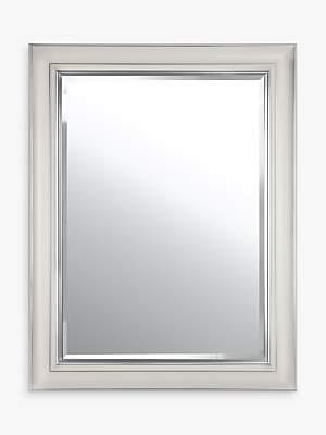 John Lewis & Partners Silver Line Bevelled Mirror
