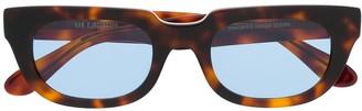 Han Kjobenhavn Tortoiseshell Rectangular-Frame Sunglasses