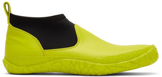 Issey Miyake Yellow Vulcanized Mid-Top Sneakers