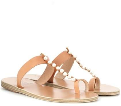 Ancient Greek Sandals Iris Pearls leather sandals