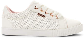 Nautica Kids Girls) White Steam Perforated Low-Top Sneakers
