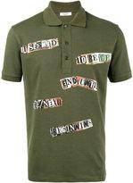 Valentino Jamie Reid slogan print polo shirt
