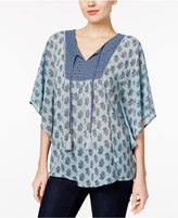 Style&Co. Style & Co Printed Dolman-Sleeve Top, Only at Macy's