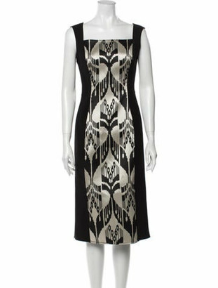 Oscar de la Renta 2017 Midi Length Dress Black