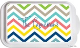 The Well Appointed House Personalized Casserole Dish with Multi Chevron Pattern