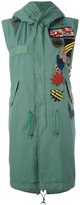 Mr & Mrs Italy - sleeveless parka coat - women - Silk/Cotton/Polyamide/Wool - XXS