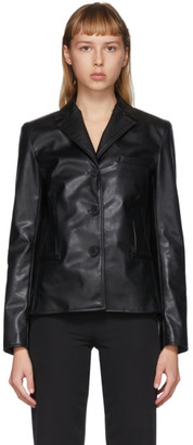 Commission SSENSE Exclusive Black Faux-Leather Cabin Jacket