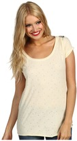 Maison Scotch Star Burn Out Tee (Vintage White) - Apparel