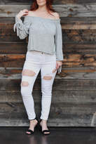 Black Label White Ripped Jeans