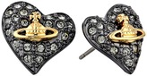 Vivienne Westwood Tiny Diamante Heart Studs Earring