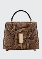 Valextra Micro Iside Python Top Handle Bag