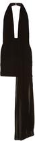 Anthony Vaccarello Pleated-drape mini dress