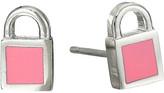 Marc by Marc Jacobs Lock-In Mini Enamel Padlock Studs Earrings