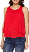 Bisou Bisou Sleeveless Tiered Draped Top