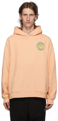 Brain Dead Orange Speed Text Hoodie