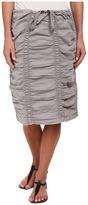 XCVI Double Shirred Panel Knee Length Skirt Women's Skirt