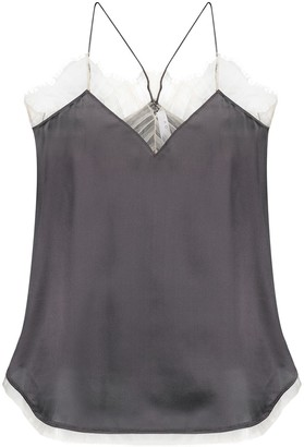 IRO Lace-Trim Silk Vest