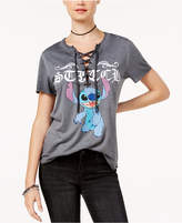 Freeze 24-7 Juniors' Stitch Lace-Up T-shirt