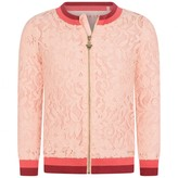 GUESS GuessPink Lace Zip Up Cardigan