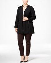 Alfani Plus Size Open-Front Zip-Pocket Jacket, Only at Macy's