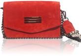 Bonendis Perla Shoulder Bag Red Suede