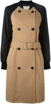 3.1 Phillip Lim contrast sleeve trench coat