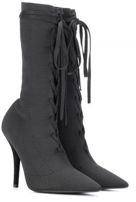 Yeezy Lace-up knit ankle boots (SEASON 5)