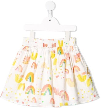 Stella Mccartney Kids Paint Rainbow print skirt