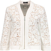 Raoul Guipure lace bomber jacket