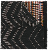 Missoni fringed knitted scarf - women - Acrylic/Polyamide/Mohair/Wool - One Size