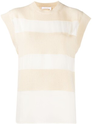 Chloé Striped Knitted Top