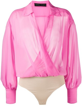 Christian Pellizzari Draped Wrap Front Blouse